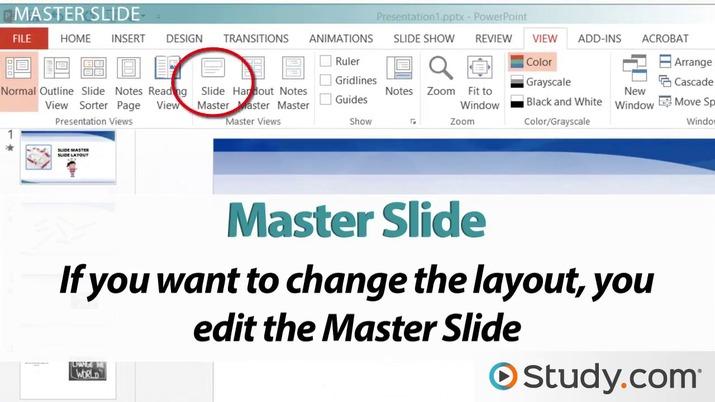 Understanding powerpoint slide masters and layouts video lesson understanding powerpoint slide masters and layouts video lesson transcript study toneelgroepblik Gallery
