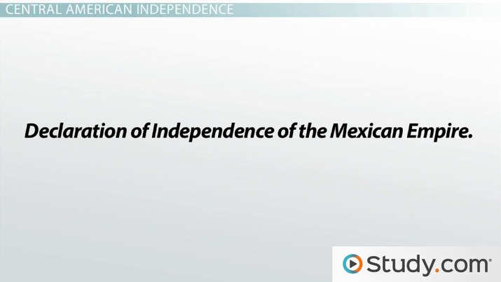 Independence For Central America