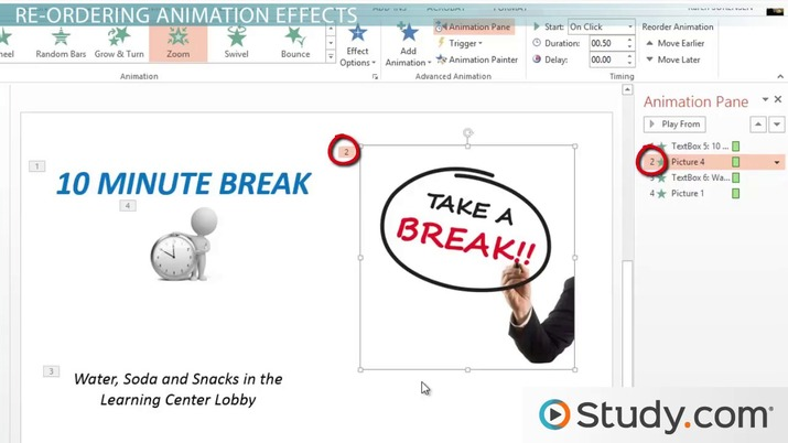 How to Use the Animation Pane in PowerPoint - Video & Lesson