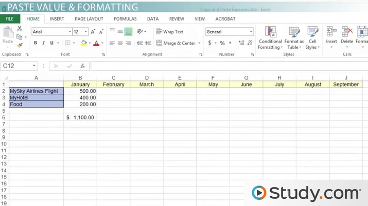 How to Copy and Paste Data in Excel