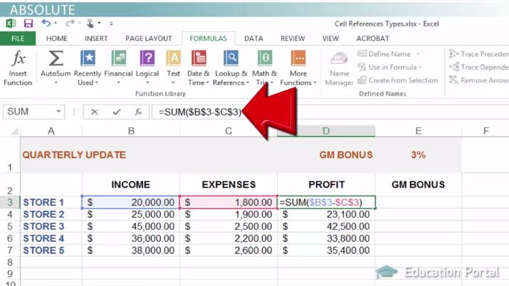 Cell References in Excel: Relative, Absolute & Mixed - Video