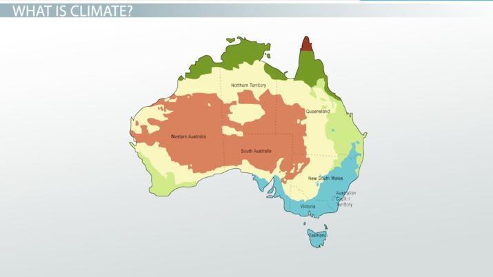 Map Of Australia Video.Major Climates Of Australia The Pacific Islands Video Lesson