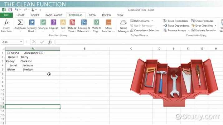 Using the TRIM & CLEAN Functions to Fix Data in Excel - Video