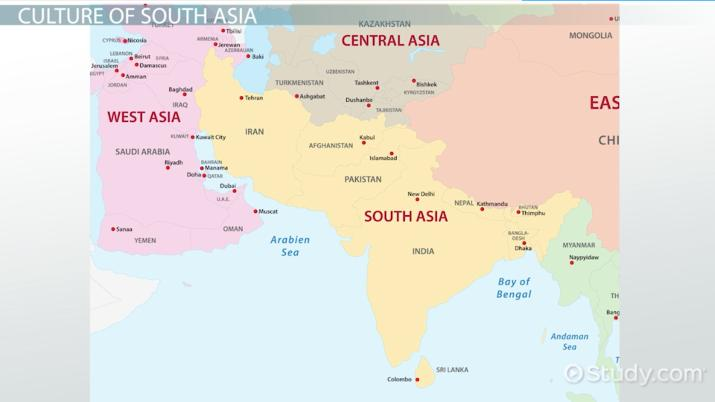 Map Of Asia Video.Cultural Patterns Of South Asia Video Lesson Transcript Study Com