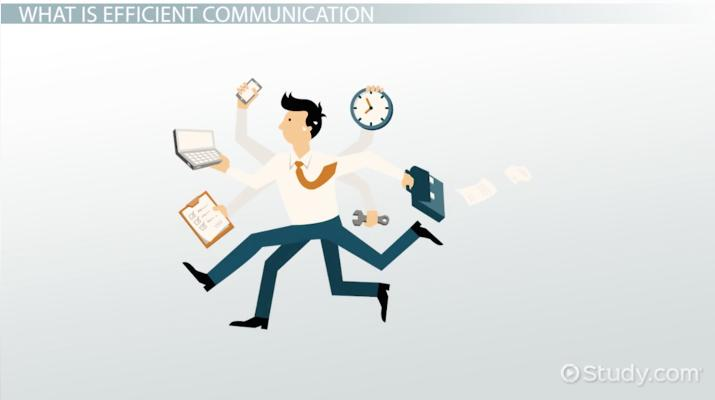 What Is Efficient Communication?   Definition U0026 Skills   Video U0026 Lesson  Transcript | Study.com