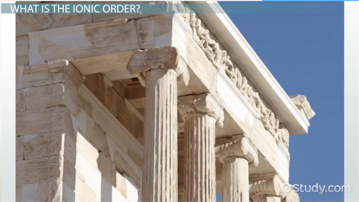 ionic order of greek architecture definition example buildings