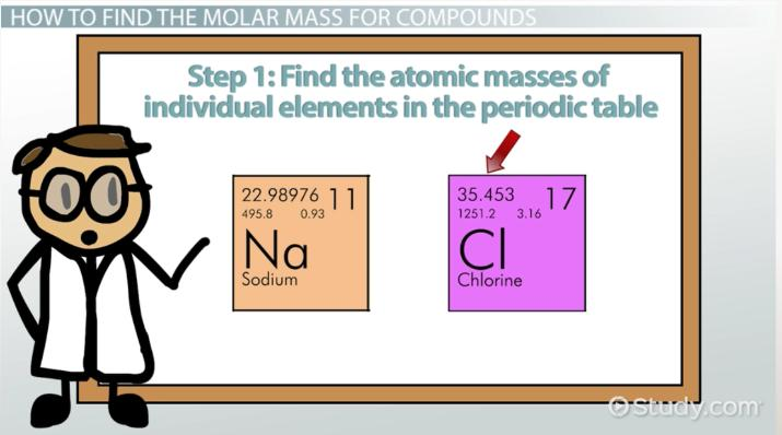 What Is Molar Mass?   Definition, Formula U0026 Examples   Video U0026 Lesson  Transcript | Study.com