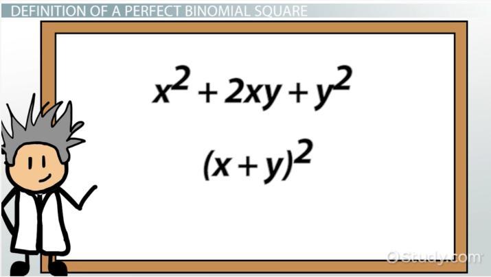 Perfect Square Binomial Definition Explanation Video Lesson