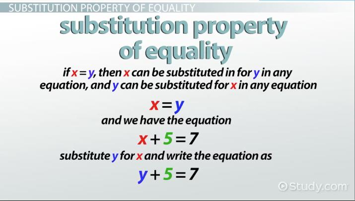Substitution Property Of Equality Definition Examples Video