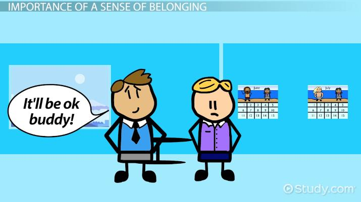 A Sense Of Belonging >> Sense Of Belonging Definition Theory Video Lesson
