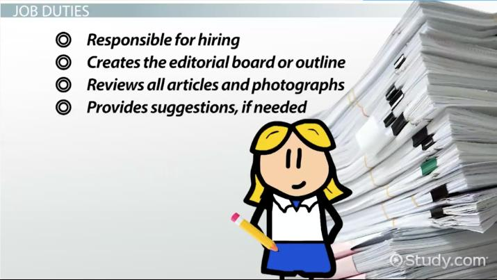 job description of an editor in chief