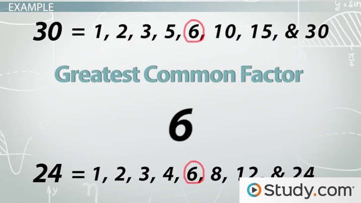 Word Problems Greatest Common Factor Least Common Multiple
