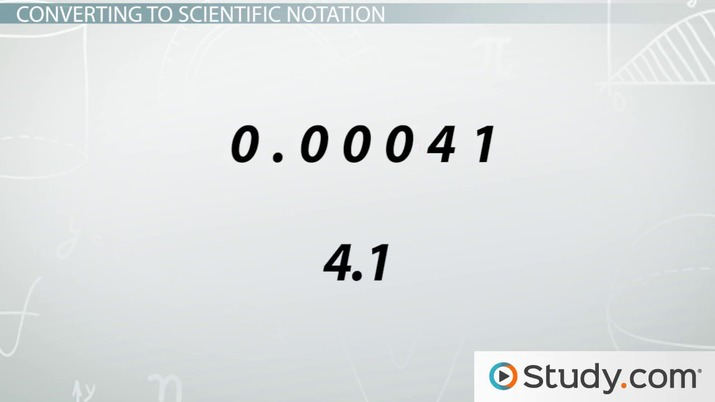 Converting Numbers to Scientific Notation - Video & Lesson