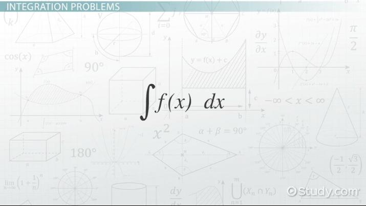 Integration Problems In Calculus Solutions Examples Video