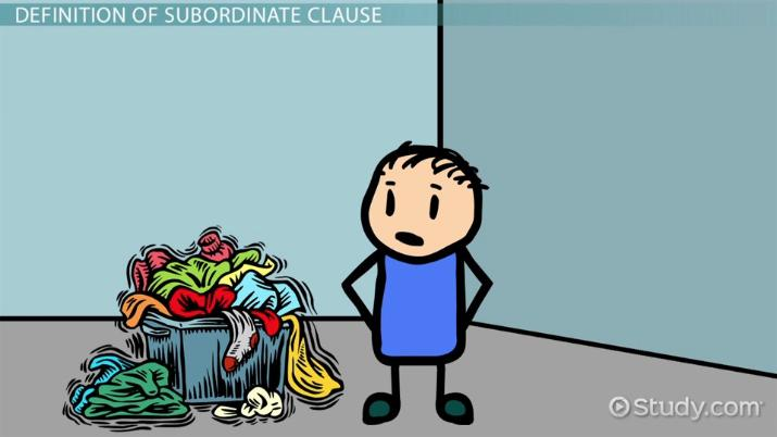 Subordinate Clause Examples Definition Video Lesson