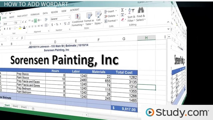 How to Change Text to WordArt in Excel - Video & Lesson
