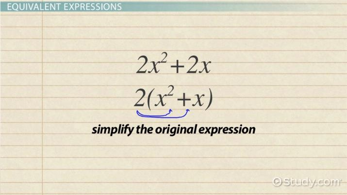 Writing Equivalent Expressions: Definition & Examples