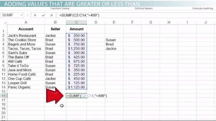 How to Use the SUMIF Function in Excel - Video & Lesson