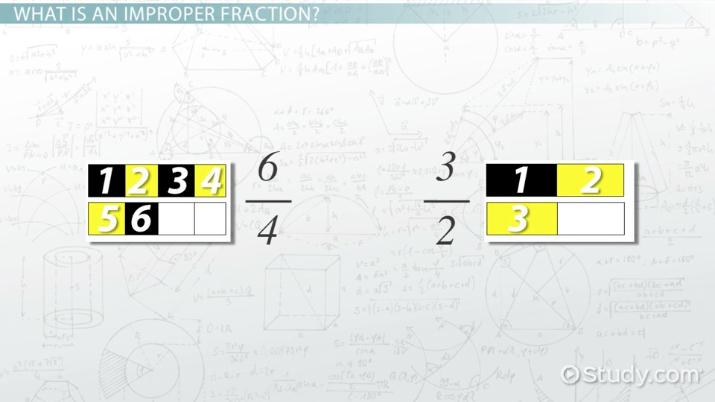 how to reduce or simplify improper fractions  video  lesson  how to reduce or simplify improper fractions