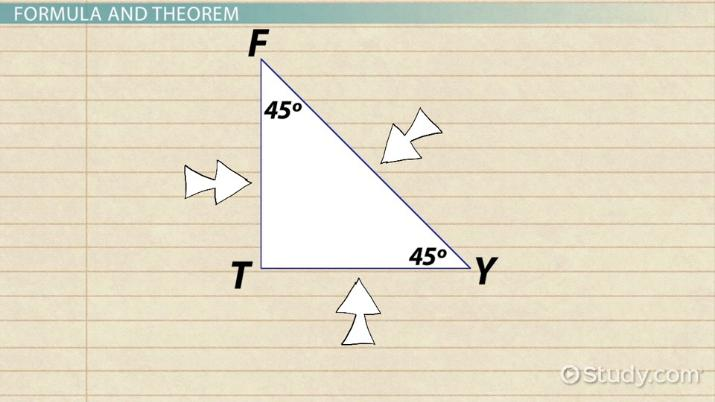 45 45 90 Triangle Theorem Rules Formula Video Lesson