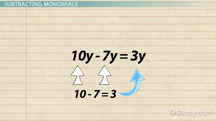 How to Add & Subtract Monomials