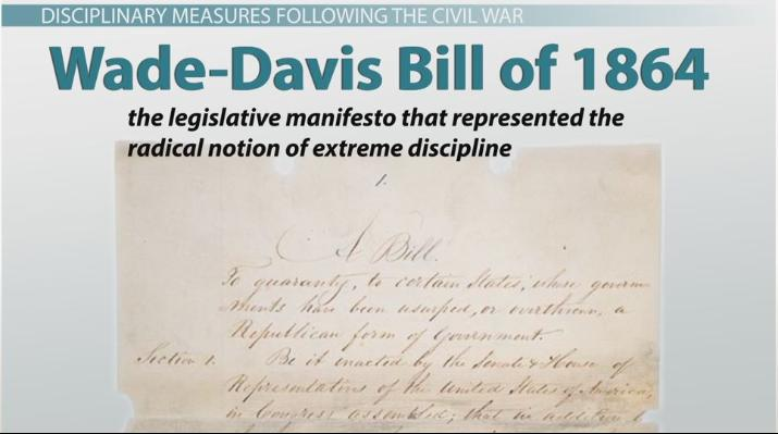 Wade-Davis Bill of 1864: Definition & Summary - Video