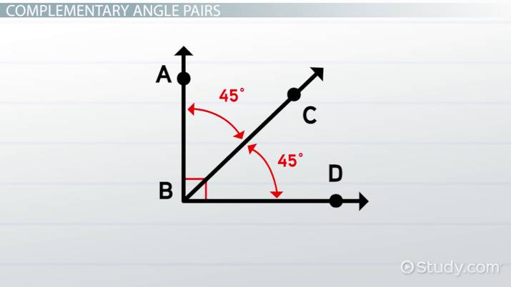 Angle Pairs Types Concept Video Lesson Transcript Study Com