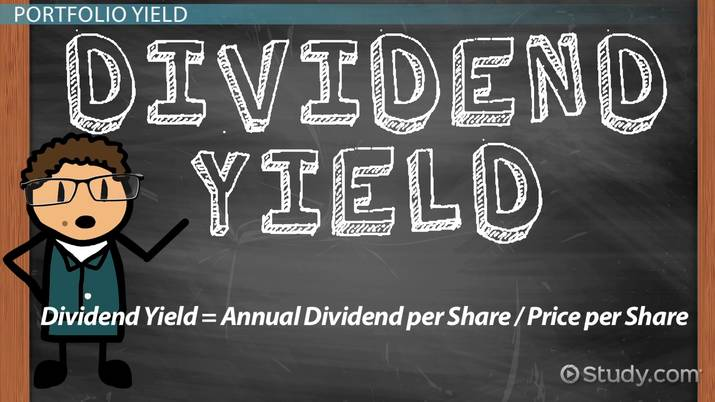What Is Dividend Yield Definition Calculation Video Lesson