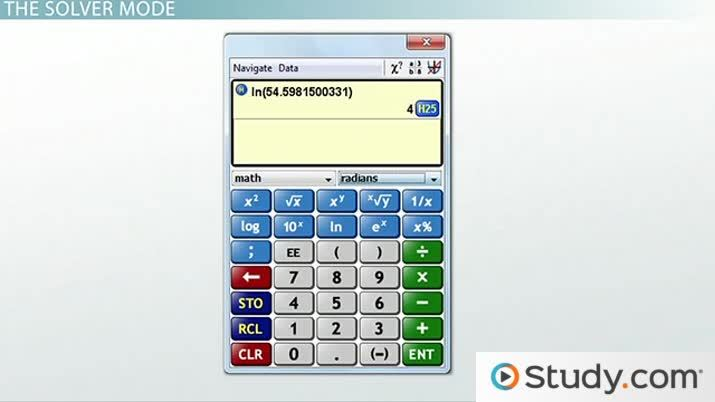 Solving Equations on the CLEP Scientific Calculator - Video