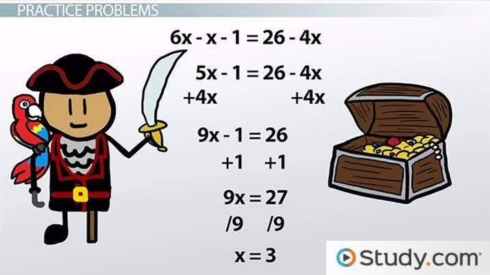 Solving Linear Equations Practice Problems Video Lesson
