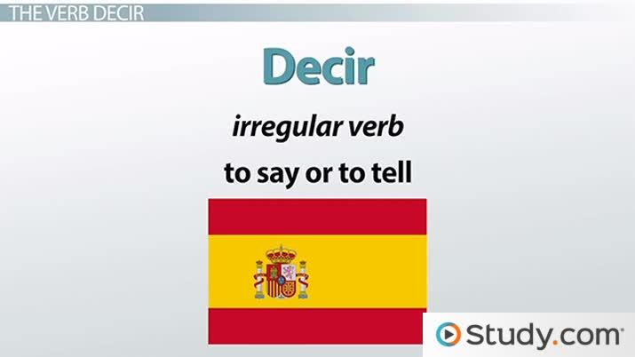 Present & Preterite Tenses of Decir in Spanish - Video