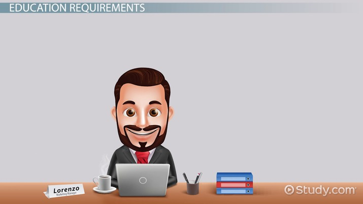 Marketing Manager Career Info Requirements