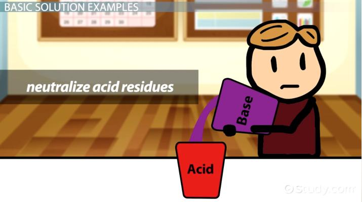 Basic Solutions in Chemistry: Properties & Examples