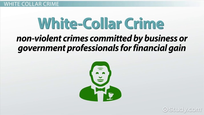 street crime vs white collar crime definitions examples  street crime vs white collar crime definitions examples video lesson transcript com