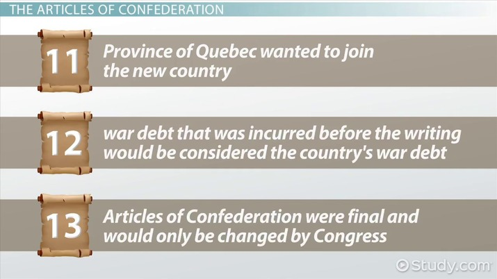 The Articles Of Confederation Summary Analysis Video