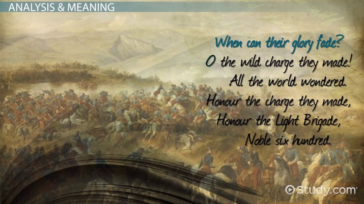 the charge of the light brigade by tennyson  summary  poem