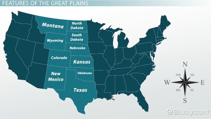 Great Plains On Us Map The Great Plains: Facts & History   Video & Lesson Transcript