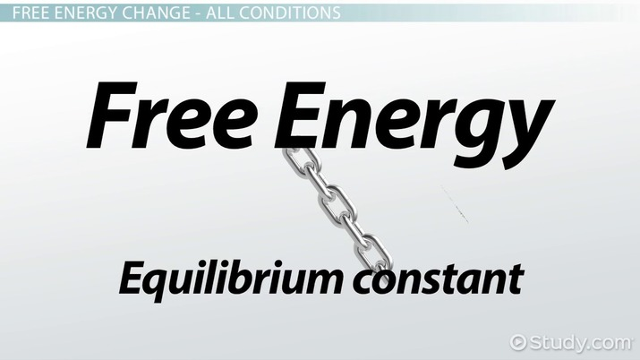 The Relationship Between Free Energy and the Equilibrium