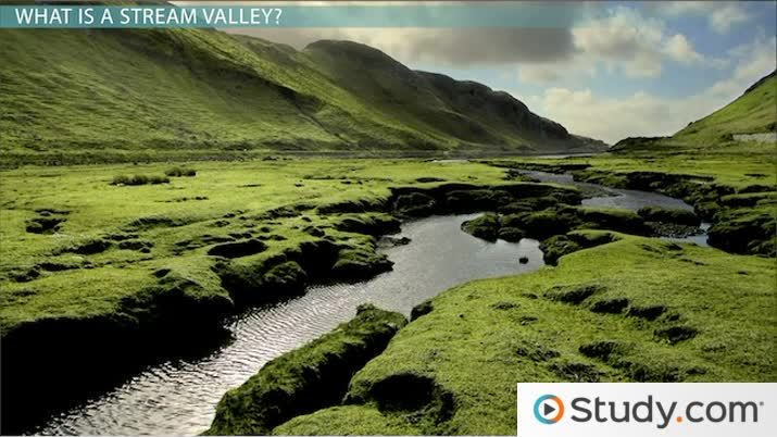 The Formation of Stream Valleys - Video & Lesson Transcript | Study.com