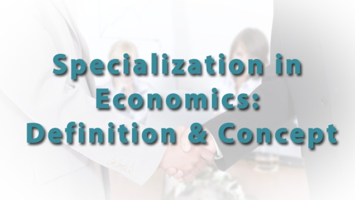 specialization in economics  definition  u0026 concept