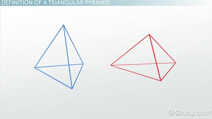 Triangular Pyramid Definition Formula Examples Video Lesson