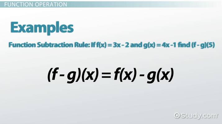 Function Operation: Definition & Overview - Video & Lesson