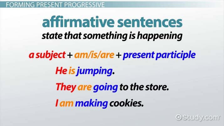 What is Present Progressive Tense? - Definition & Examples