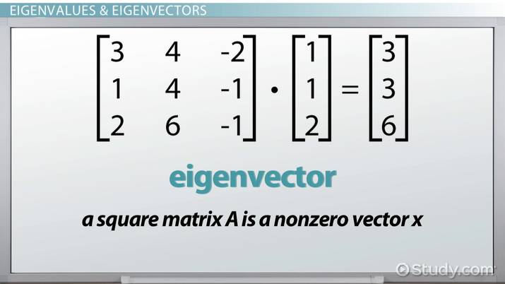 Eigenvalues & Eigenvectors: Definition, Equation & Examples - Video