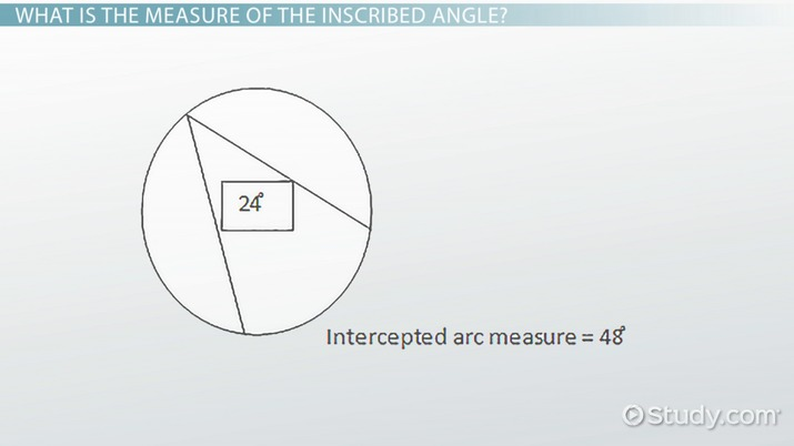 Inscribed Angle: Definition, Theorem & Formula - Video & Lesson