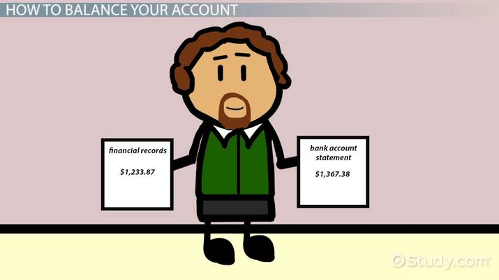 How to Balance a Checking or Savings Account - Video