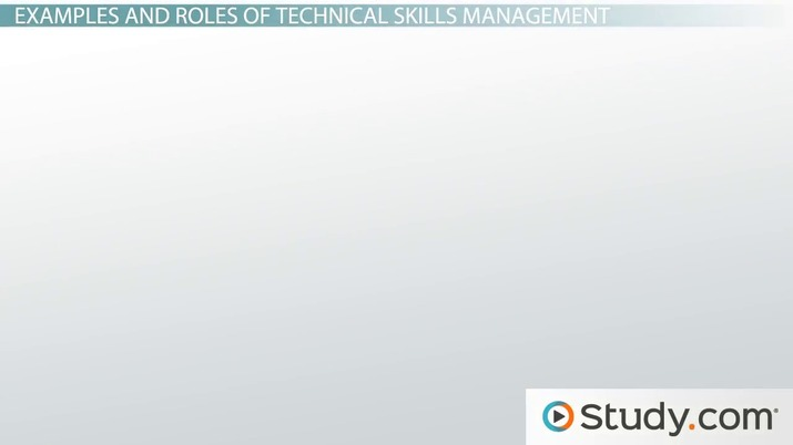 what are technical skills in management