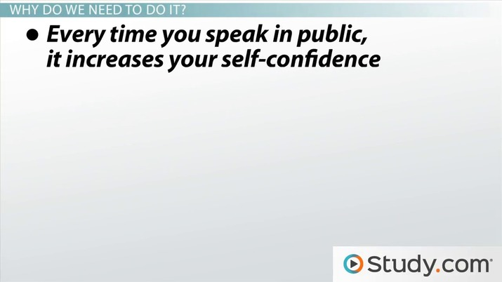 What Is Public Speaking and Why Do I Need to Do It? - Video & Lesson