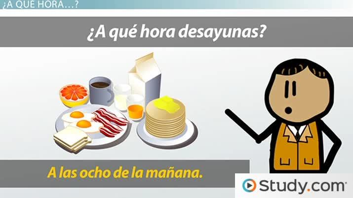 What Time'' vs. ''At What Time'' in Spanish - Video & Lesson ...
