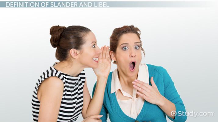 libel and slander examples